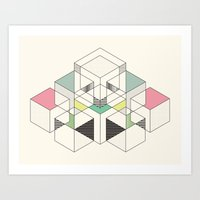 GEOMETRIC SPACE Art Print