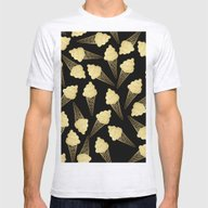 Faux Gold Leaf  Ice Crea… Mens Fitted Tee Ash Grey SMALL