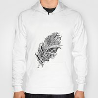 Feather Black And White … Hoody