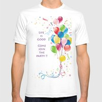 Life Is Good Mens Fitted Tee White SMALL