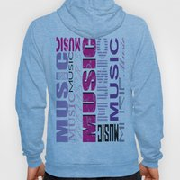 The Word Music In Purple and Pink Hoody
