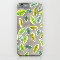 iPhone & iPod Case featuring Leaf Watercolor Pattern by Robayre by robyn wells
