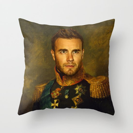 Gary Barlow - replaceface Throw Pillow