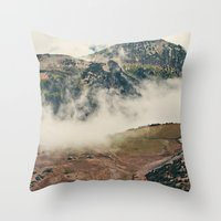 Mountain Hike Throw Pillow