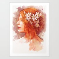 Flower scent Art Print