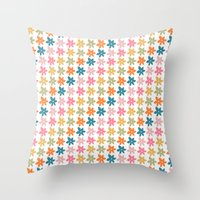 Put Some Flowers In Your… Throw Pillow