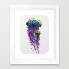 Sketchy Jellyfish Framed Art Print