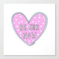 Be Shh Now Canvas Print