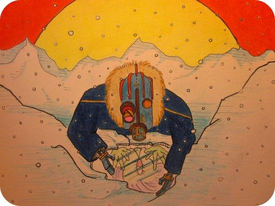 """Upon the Ice Moon of Europa"" Art Print"
