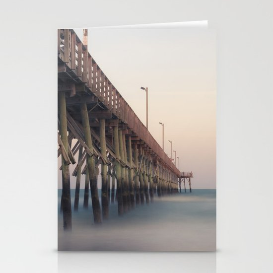 Pier at Dusk Stationery Card