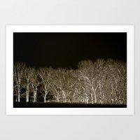 Black tree line Art Print