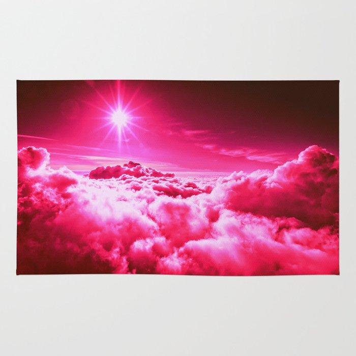 Hot Pink Clouds Rug By 2sweet4words Designs
