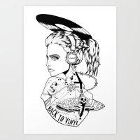 RETRO SILENCIO Art Print