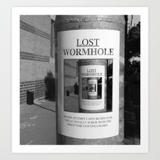 Lost Wormhole Art Print