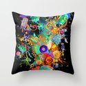 Candy Sweet Skull Throw Pillow