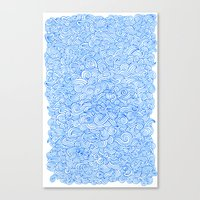 Water Wind Doodle Canvas Print