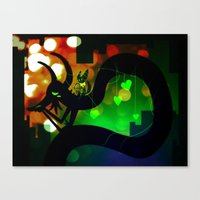 Canvas Print featuring Love That Ties by Doc Diventia