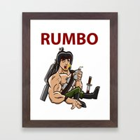 Rumbo - An incredibly violent and constantly drunk soldier of doom Framed Art Print