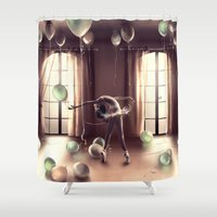 LIBRA from the dancing zodiac Shower Curtain