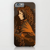 iPhone Cases featuring Mujer floral II by Viviana Gonzalez