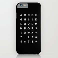 Letter Love - Black Slim Case iPhone 6s