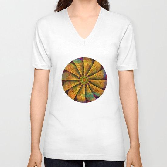 Mandala - Antiqued V-neck T-shirt