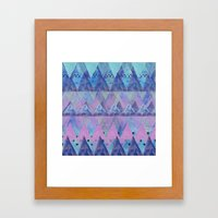 Layered Triangles 2 Framed Art Print