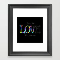 Learn To Love The Process Framed Art Print