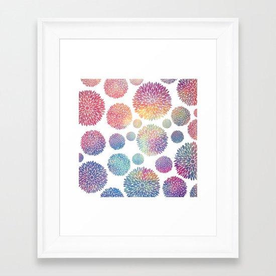 Watercolor Flowers Framed Art Print