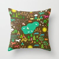 nature is home 1 Throw Pillow