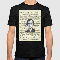 Poe Titles Mens Fitted Tee Tri-Black SMALL
