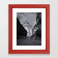When In Lithuania Framed Art Print
