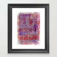 Starry Pinky Purple Reds Framed Art Print