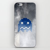 Pac-Man Blue Ghost iPhone & iPod Skin