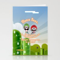 Super Mario Bros. Drain … Stationery Cards