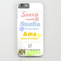 iPhone & iPod Case featuring {ESP} SONRÍE · SUEÑA · AMA by Nhani · Graphic Design & Photography