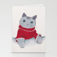 Cozy Cat Stationery Cards