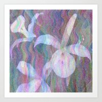 Orchid Ripples Art Print