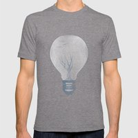 Ideas Grow Mens Fitted Tee Tri-Grey SMALL