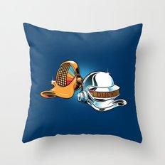 Daft Duck Throw Pillow