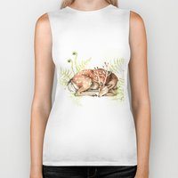 Sleeping Deer Biker Tank