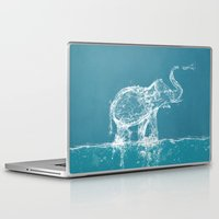 elephant Laptop & iPad Skins featuring Elephant by Paula Belle Flores
