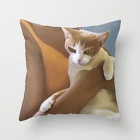 Kitten, Defeeted Throw Pillow