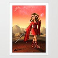 Mars Princess Art Print