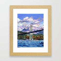 The Lion's Gate, Vancouver Framed Art Print