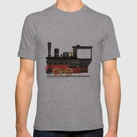 Locomotive  Mens Fitted Tee Athletic Grey SMALL