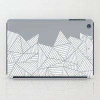Abstract Mountain Grey iPad Case
