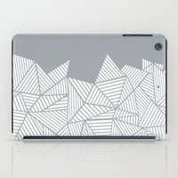 Abstract Mountain Grey iPad Case