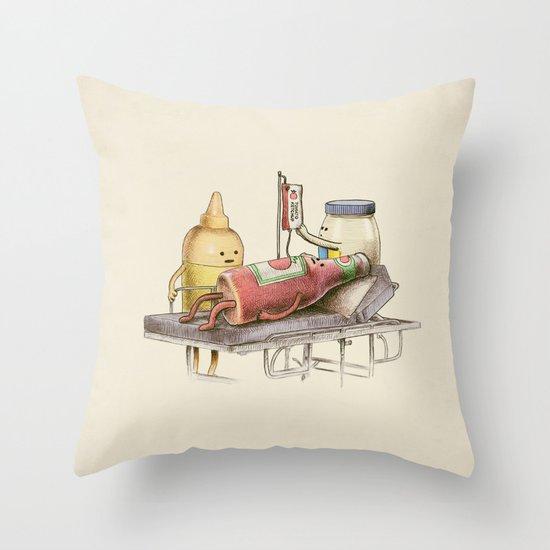 Emergency Transfusion  Throw Pillow