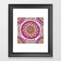 Star Blossom Mandala Framed Art Print